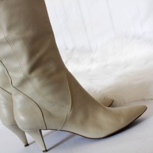 NINE WEST NUDE BOOTS